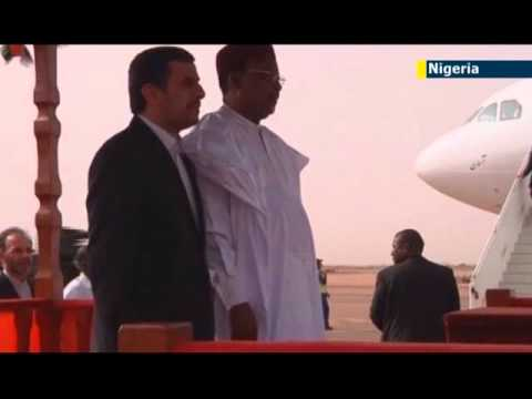 Ahmadinejad in Niger: Iranian President visits one of world's biggest uranium producers
