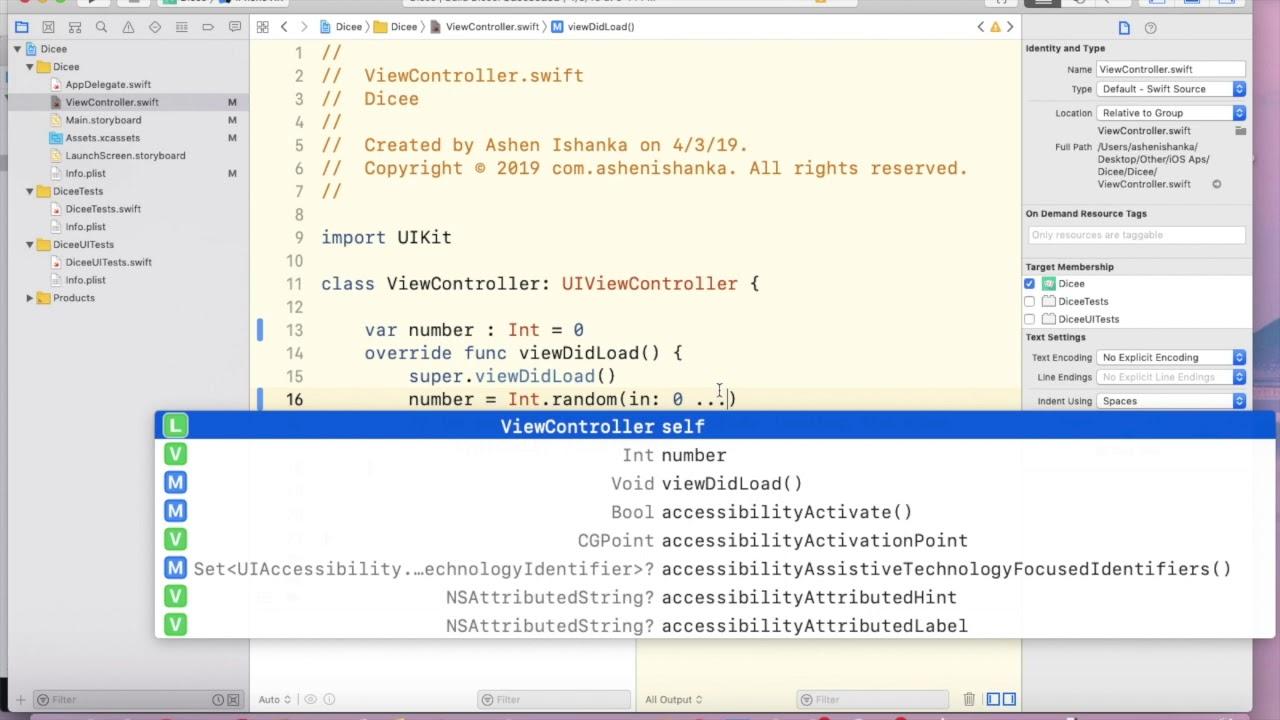 How to generate random number in Swift - iOS Xcode Tutorial
