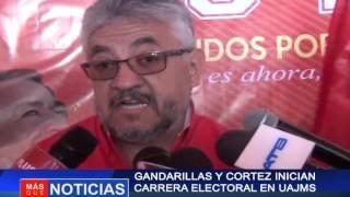 Gandarillas y Cortez en carrera electoral en Uajms