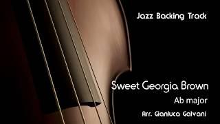 New Jazz Backing Track  - Sweet Georgia Brown ( Ab  ) Fast Swing -  LIVE - Play Along - Jazzbacks