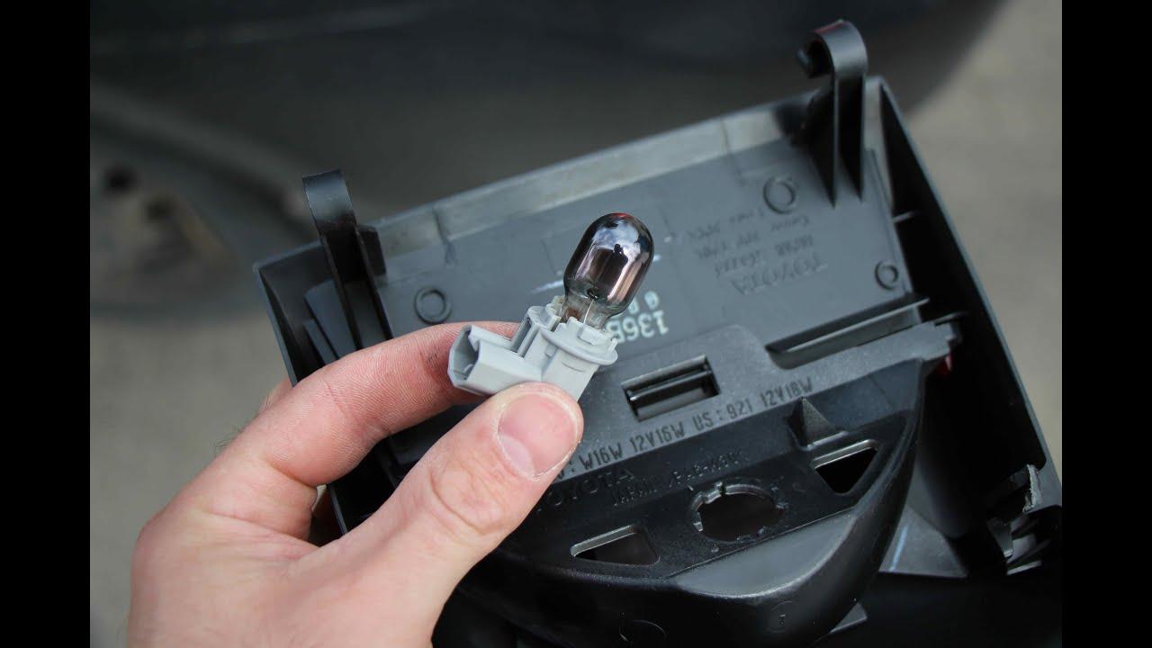 Toyota Yaris Brake light bulb replacement  YouTube