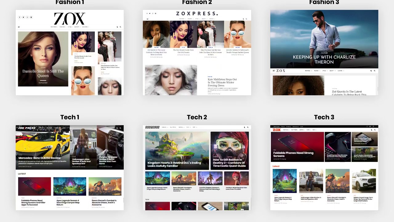 ZoxPress - All-In-One WordPress News Theme - YouTube