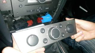 how to remove the heating control unit and glove compartment vauxhall opel