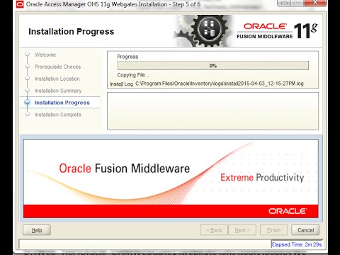 Installing Oracle Webgate 11g for OAM