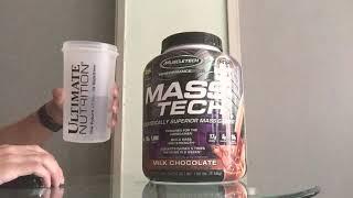 How to drink MASS TECH MASS GAINER by MUSCLETECH