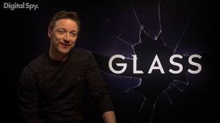 Samuel L Jackson, James McAvoy and Bruce Willis in Glass Movie Interview