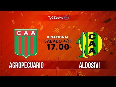 Primera B Nacional: Agropecuario vs. Aldosivi   #BNacionalenTyC