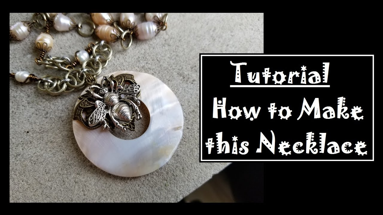 Design Ideas: Donut Bead Necklace - YouTube