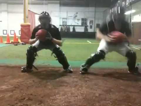 Catcher drills -  Pro Teach Baseball