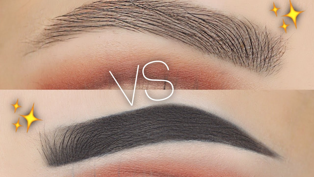 Natural Vs Fleeky Eyebrow Routine Youtube
