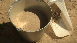 как сделать камень из песка