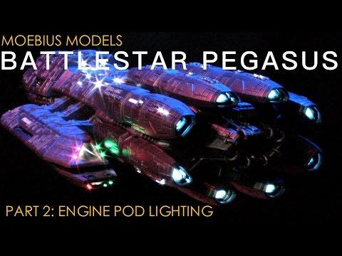 Moebius Models 1/4105 Battlestar Pegasus Part 2: Engine Pod Lighting