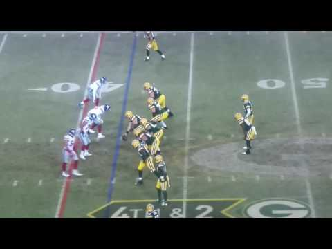 Aaron Rodgers to Randall Cobb Hail Mary Pass giants vs packers wild card game Amazing Catch