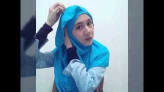 Tutorial tudung shawl ruffle chiffon