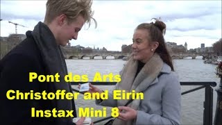 [25] Pont des Arts Christoffer and Eirin FujiFilm Instax Mini 8 28 mars 2018