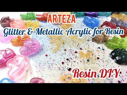 Resin DIY Arteza Glitter and Metallic Acrylic Review plus Demo (PG-13)