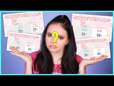 ENTWEDER ODER Makeup Challenge... 🤔SO sehen also meine ZUSCHAUER aus! :D
