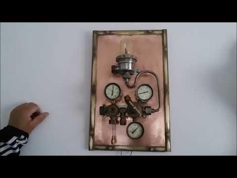 Светильник - Ночник настенный,  Steampunk , Fallout , Фаллаут,  Стимпанк. Обзор светильников.