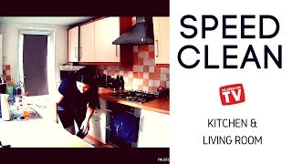 Kitchen Speed Clean & Living Room Speed Cleaning - CLEAN WITH ME 2018