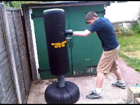 Free Standing Punch Bag Youtube