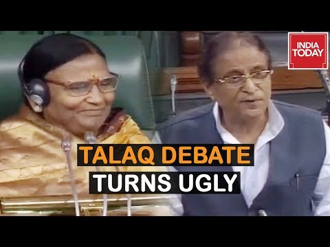 triple-talaq-bill-debate-:-bjp-angry-over-azam-khan's-remark-on-speaker-rama-devi