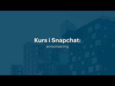 Kurs i Snapchat: annonsering (2018) | Utdannet.no