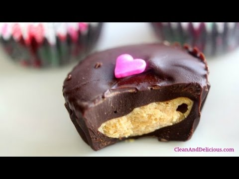 Dark Chocolate Peanut Butter Cups For Valentine's Day!