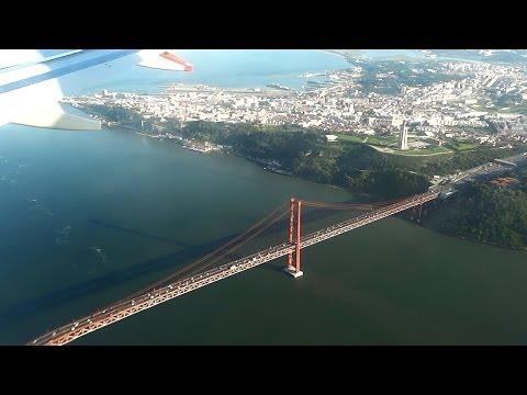 Landing in Lisbon Airport LIS