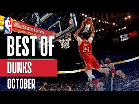 NBA's Best Dunks | October 2018-19 NBA Season