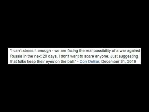 Outlook 2017 - War or Peace? - Don DeBar, anti-war activist, radio host, New York