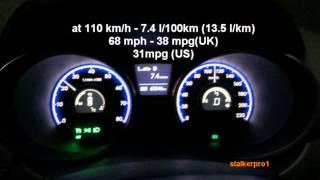 Hyundai ix35 2.0 cvvt fuel consumption расход топлива смотреть