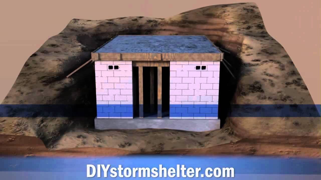 Concrete Block Diy Storm Shelter 12x20 Foot Youtube