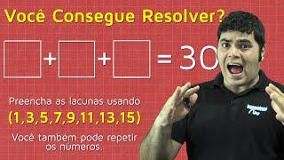 DESAFIO DE RACIOCÍNIO LÓGICO - Você Consegue Resolver? (Can You Solve This?) | Matemática Rio