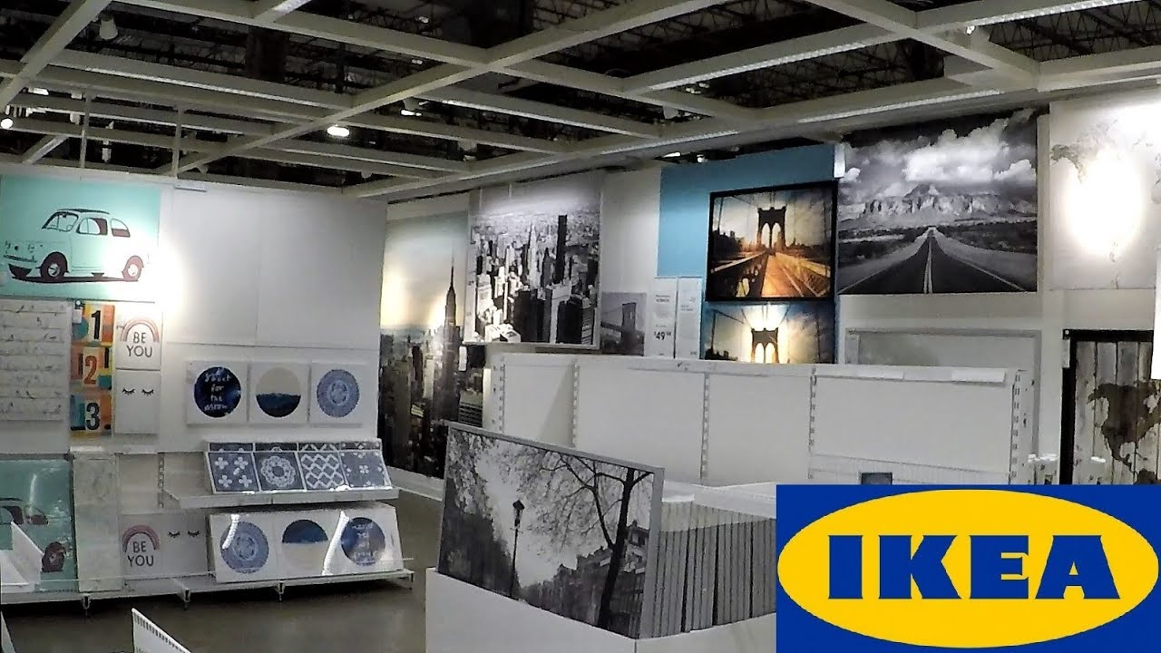 Ikea wall art paintings wall decor home decor shop with me shopping store walk through 4k