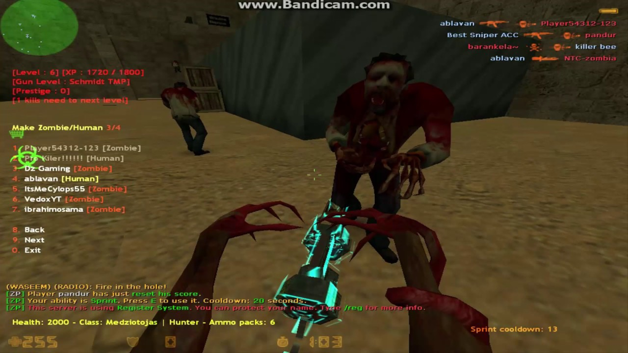 Скачать лвл систему для зомби сервера