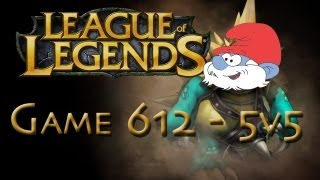 LoL Game 612 - 5v5 - Hilarious Rammus Smurf - 2/2