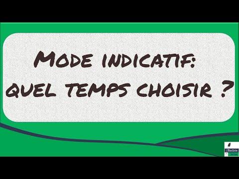 Mode indicatif: quel temps choisir ?