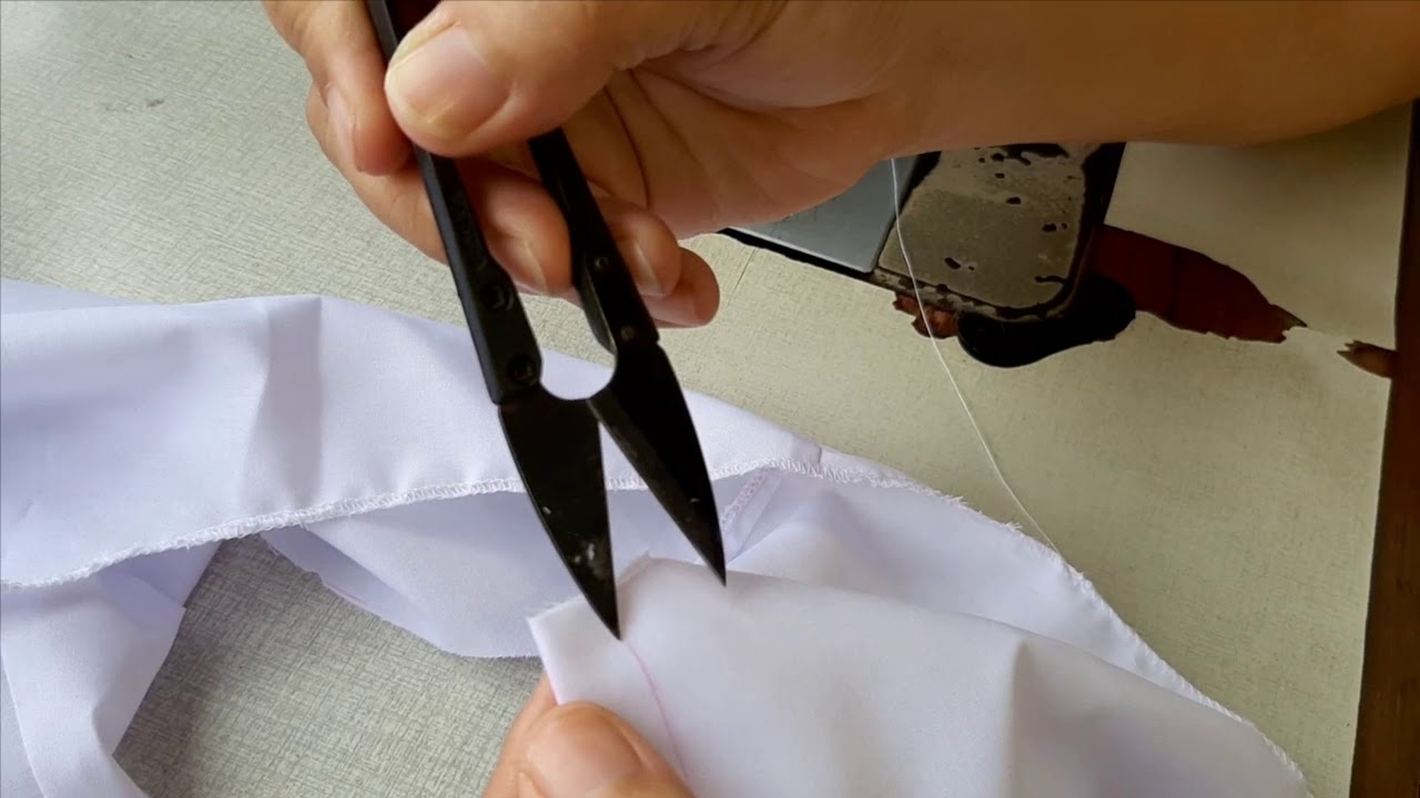 Hướng dẫn may áo đồng phục học sinh cho be gái - theo rập 390
