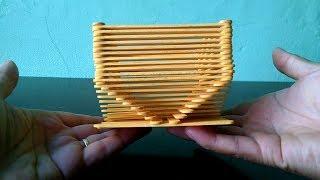 Como Fazer Vasinho com Palitos de Picolé