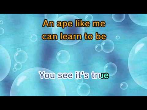 I Wanna Be Like You (Karaoke and Lyric Version)
