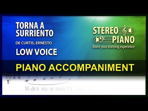 Torna A Surriento / Karaoke / De Curtis / Low Voice