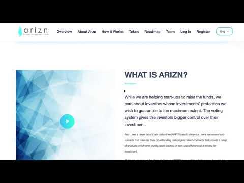 Arizn - Crowdfunding On Blockchain