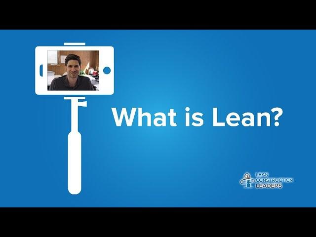 Tony Watson - What is Lean?