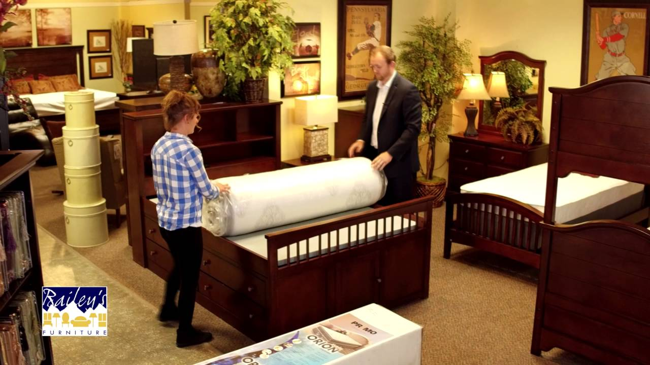 B 432 Bailey S Furniture 30 Sec Rolled Mattresses 35 Youtube