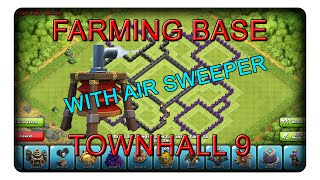 AIR SWEEPER FARMING BASE TH9 || CLASH OF CLANS | CoC | Speedbuild