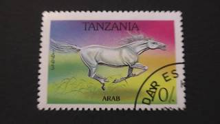 Postage stamp. TANZANIA. arab horse. 1993. Price 70/.