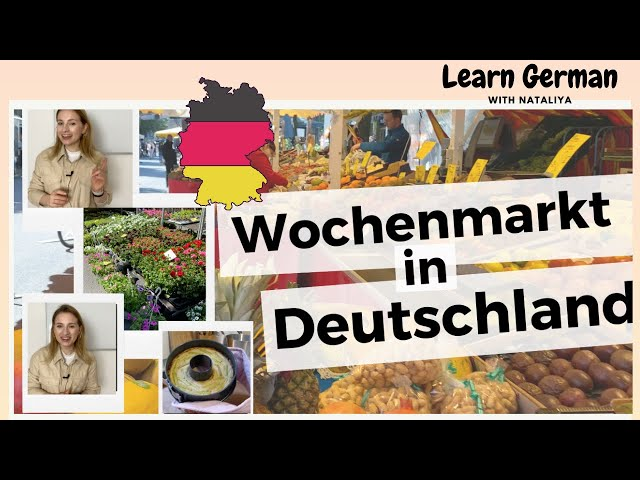 Wochenmarkt in Frankfurt  || Farmers' Market in Frankfurt || German B2 Learn German with Natalia