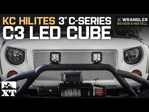 Jeep Wrangler KC HiLiTES 3 C-Series C3 LED Cube (1987-2018 YJ, TJ, JK & JL) Review & Install
