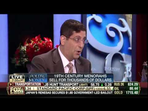 Jonathan Greenstein of J Greenstein & Co. on Varney about High End Hanukkah Menorahs