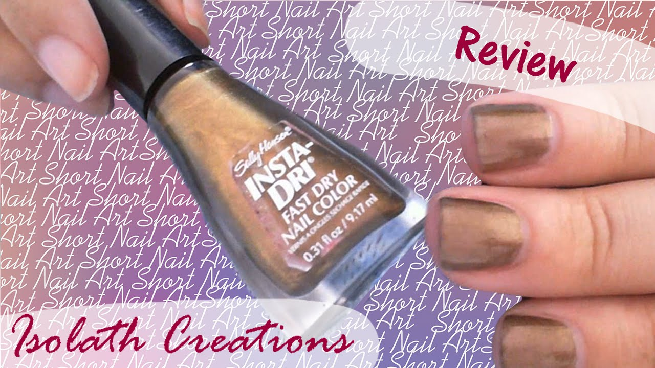 Sally Hansen Insta-Dri Nail Polish Review (request) - YouTube